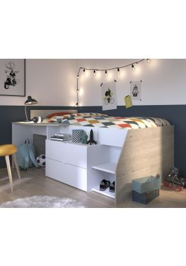 Milky Midsleeper Cabin Bed